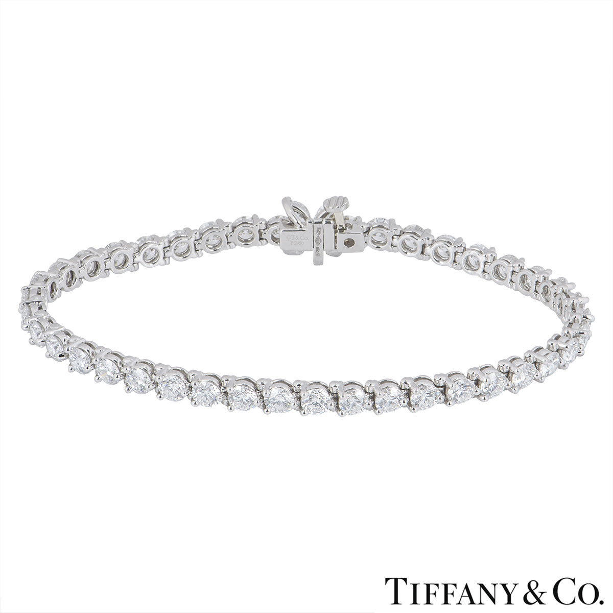 Tiffany & Co. Platinum Diamond Victoria Bracelet 6.53ct TDW